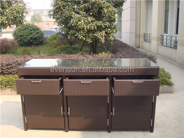 Dusche Rattan  aluminiumrahmen rattan bar tabelle billig rattan