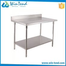 Commercial Knockdown Keter Kitchen Prep Work Table With Shelves