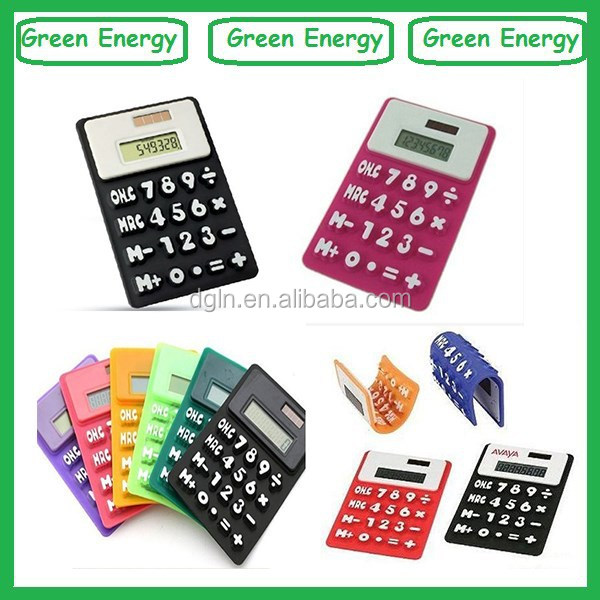 Cute silicone calculator ,colorful calculator,folding calculator