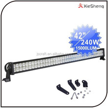 42 inch 240w dual row flood spot combo beam Epistar led light bar off road