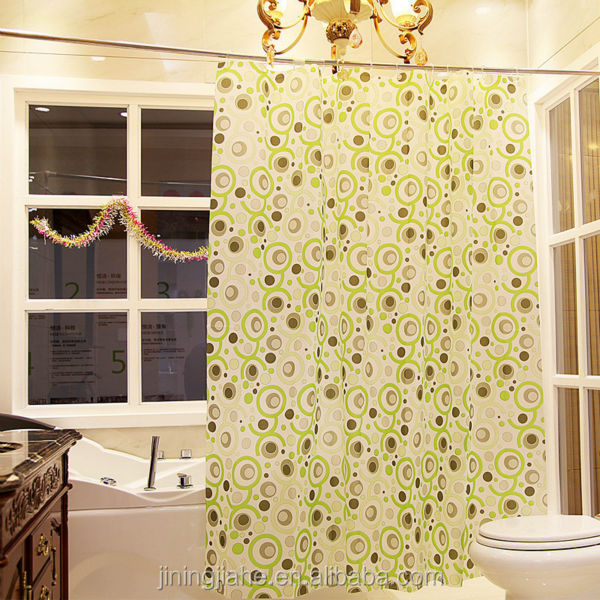 pinted hookless shower curtain of polyester/home goods shower curtains