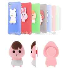 New Design Cute Cartoon Shockproof Silicon Case for iPhone 7 with Earphone Organizer