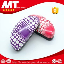 Metal eyeglasses case with dot printed ,velvet lining iron glasses case MT-TZ6014