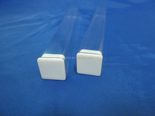 Clear square polycarbonate packing tube with lid