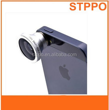 Universal 3-in-1 clip lens fisheye+macro+wide angle lens for smartphone/notebook PC