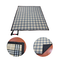 Custom Personalized Large Beige Plaid Picnic Blanket Target