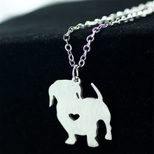 Hot Sell Stainless Steel Pendant Jewelry Cheap Bulk Wholesale Lovely Dog Shape Animals Pendant Necklace