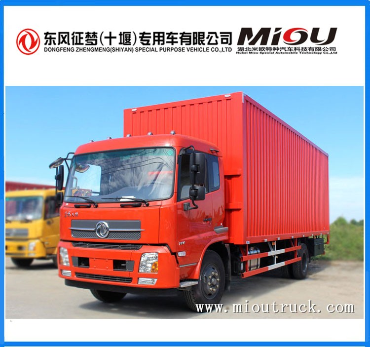 transport truck for sale ,7.5ton 4*2 132kw mini cargo van trucks