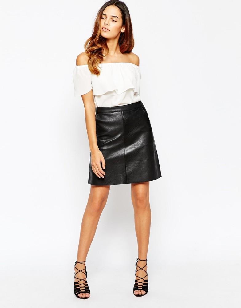 Women Side Split Leather Skirt, Women Side Split Leather Skirt ...