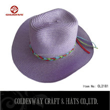Cheap purple cowboy hat with lace