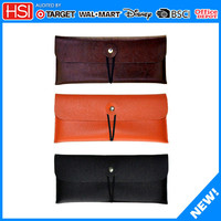 new products alibaba wholesale faux leather orange pencil case