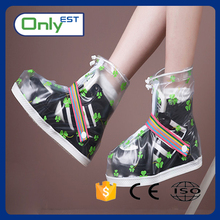 Anti-slip fashionable waterproof rain boot shoe cover with OEM