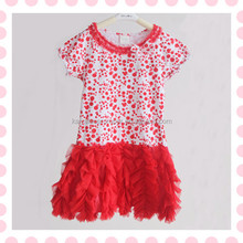 Lovely fluffy girls red petti dress baby girl's pettidress, birthday dresses for girls