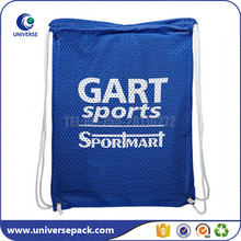 Custom Size Drawstring Mesh Sports Backpack Bag With Printing Logo