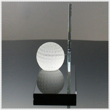 Prosperity Etched Golf Glass Award For Sports Souvenir