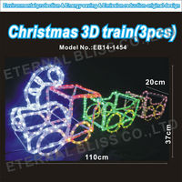 AC100V PSE most popular products 3d train christmas rope light
