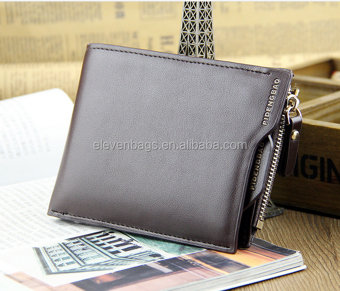 2016 Smart Card Fashion PU leather Purse,Man Leather Wallet