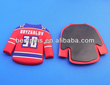 Custom Red Hockey Clothes Fridge Magnet With Different Numbers