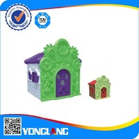 Outdoor and indoor playhouse Science and Technology Hall plastic playground for kindergarten and family