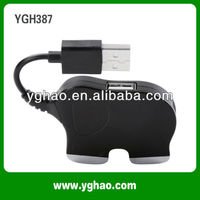 YGH387 elephant usb 1.0 hub for wholesale