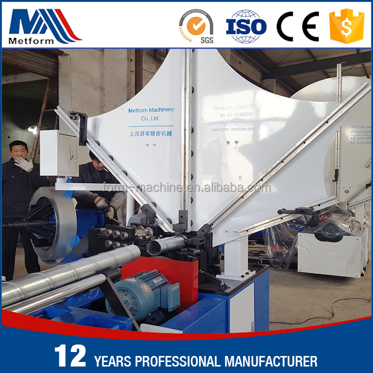 Manufacturer supplying hvac spiral duct making and duct forming machine