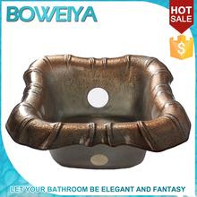 Boweiya Customizable Pedicure Glass Foot Spa Wash Basin