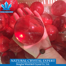 Wholesale High Temperature Melting Red Crystal quartz ball Decoration