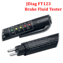 Original JDiag FT123 Digital Testing Tool Car Brake Fluid Tester with 5 LED For DOT3/DOT4 Mini Pen Auto Diagnostic Tool