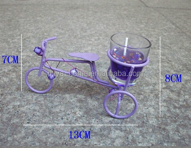 New design Metal wire art metal bicycle candle holder for decor/home decor