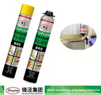High strength 750ml light yellow pu polyurethane foam sealant 2016