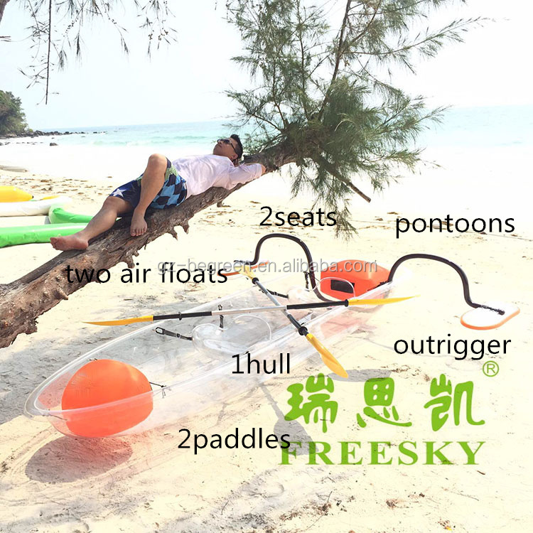 Transparent Canoe Kayaks Clear Plastic Boats Wholesale