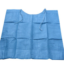 Wholesale and Low Price 2ply tissue + 1ply plastic dental bibs/towel patient bib