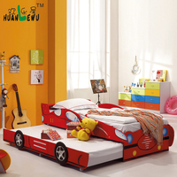Kids car bunk bed cartoon style bunk bed for children furniture bedroom
