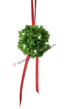Hanging Mistletoe Kissing Ball for christmas