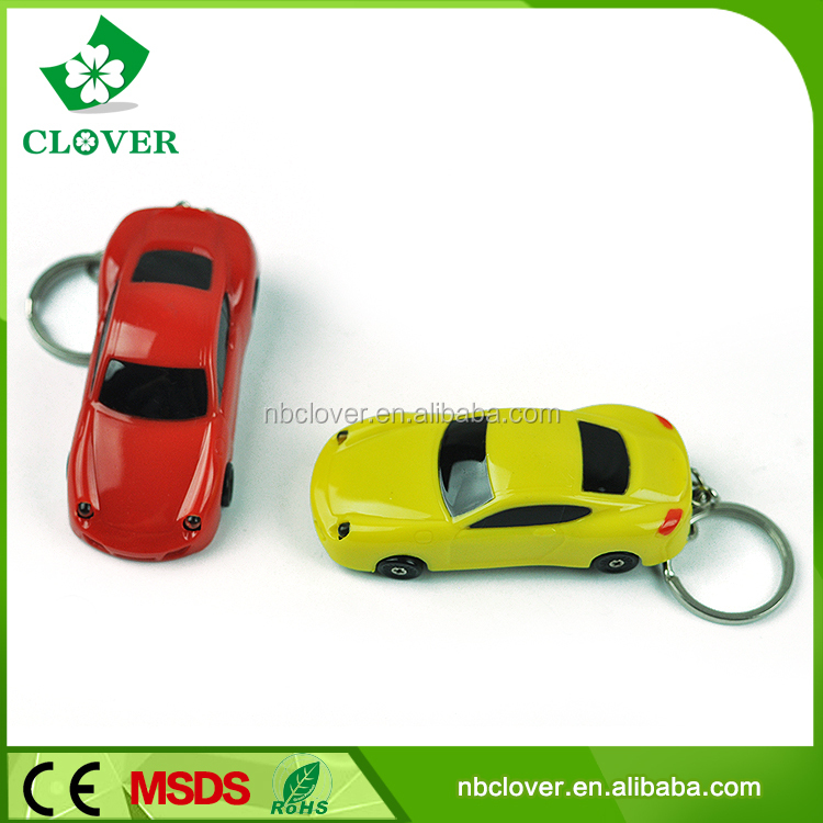 Keychain flashlight 2 LED with sound mini torch light keychain