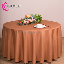oem overlays for round tablecloths/polyester visa plain light coffee table cloth cheap wholesale