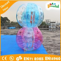 Big discount!!! high quality PVC/TPU giant outdoor human inflatable bumper bubble ball/bumper ball