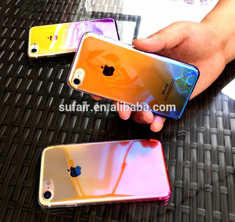Available Ultra-Thin Transparent Flash Shockproof TPU Phone Case for iphone5/6/7/7 Plus Case