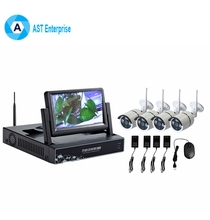 CCTV Security Camera System 10 inch LCD Screen Real-Time Remote Control P2P Digital Wireless H.264 WiFi NVR KIT 4CH