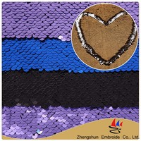 Factory textile cheap new design stypes two tone sequin fabric for women garment