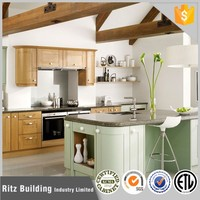 Durable color solid wood kitchen cabinet with kitchen cabinet light