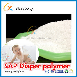 Raw Material for Baby Diaper Making SAP Powder MSDS Super Absorbent Polymer YXFLOC