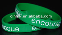 cheap sell customized engraved color filled rubber wristband bracelet