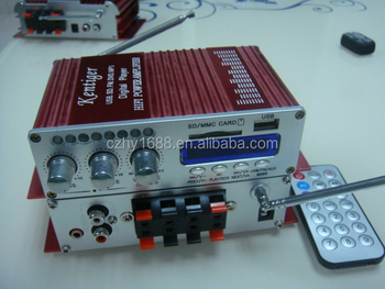 4 channel MINI car amplifier WITH LED LIGHT FLASH