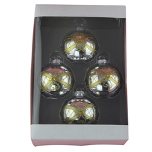 glass ball decoration frosted glass ball ornaments christmas ball set