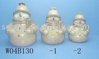 Ceramic.Christmas Decoration,Christmas Crafts.Snow Man