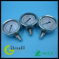 25mm/ 1' stainless steel oil filled caterpillar hydraulic pressure gauge
