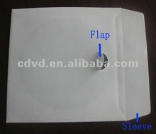 CD DVD Paper sleeve With 0.025mm OPS window+ flap+ buckle