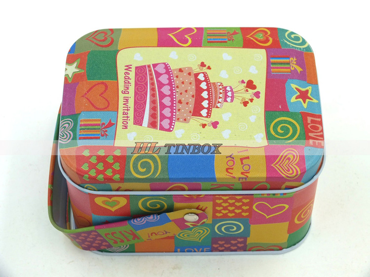 Rectangular Handle Mini Gift Tin Can