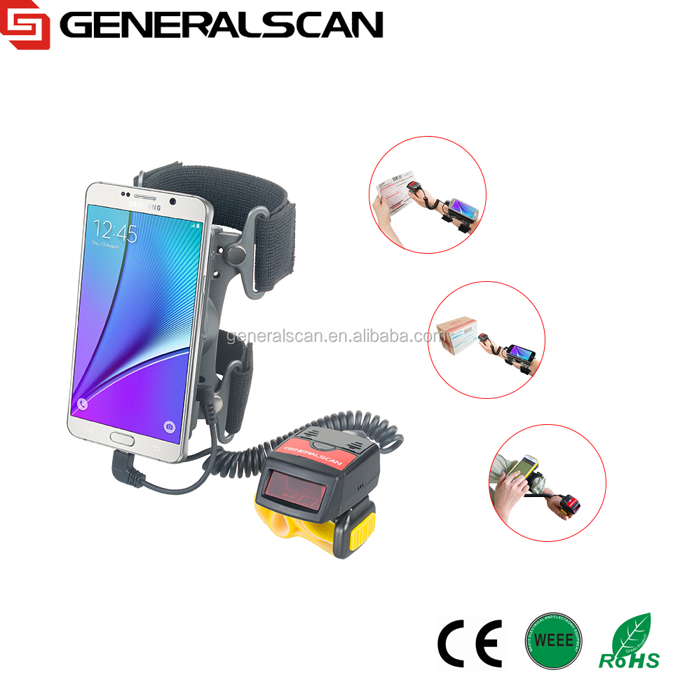 High Quality Wearable Data Collection Terminal, wearable barcode scanner, Generalscan 1D Laser Barcode Scanner Bluetooth
